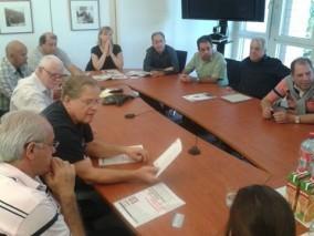 Lideres comerciários em reunião na UNI Global Suíça