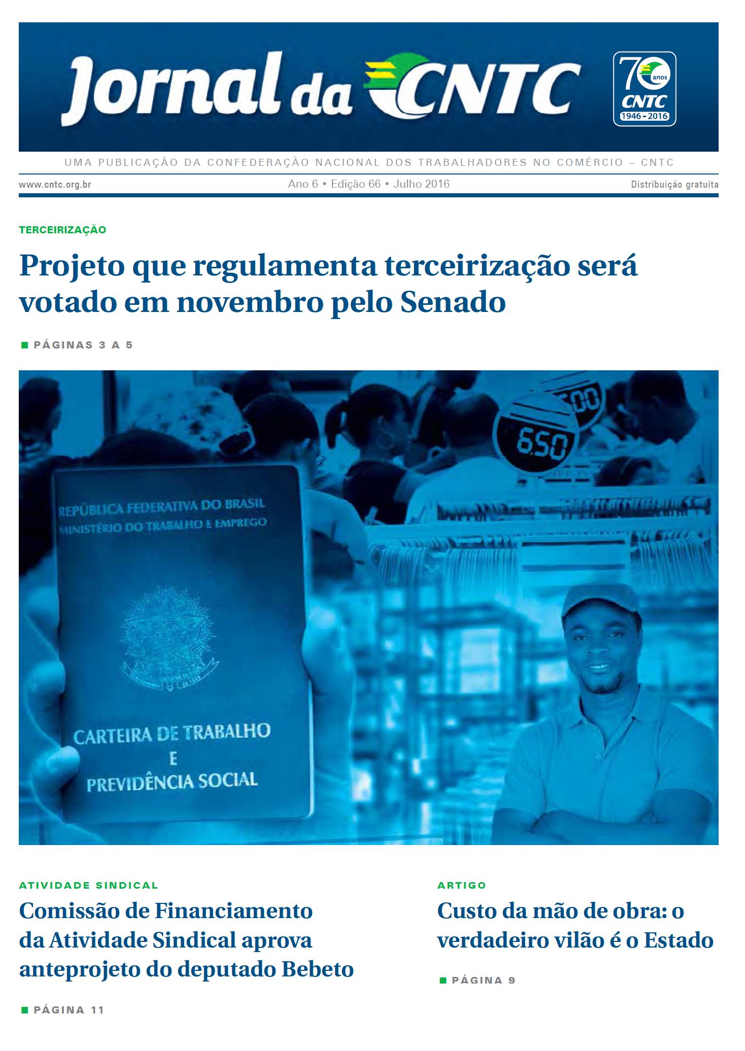 Jornal CNTC_Edição 66_Julho 2016